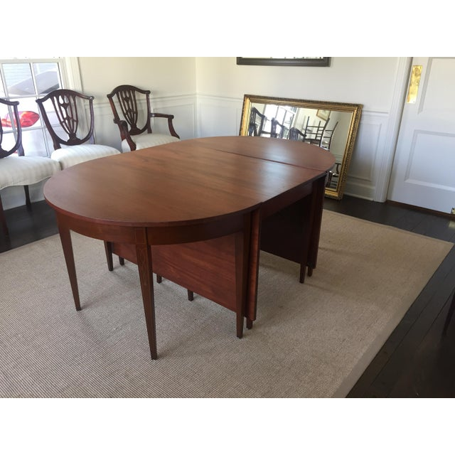 vintage mahogany expandable dining room table chairish