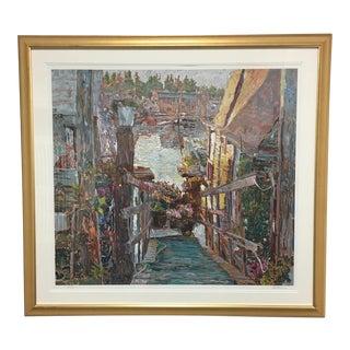 "Marco Sassone ""Sausalito Houseboats"" Silkscreen Print"
