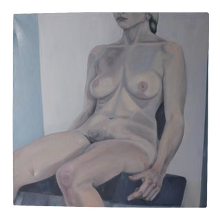 Blue Female Nude Painting