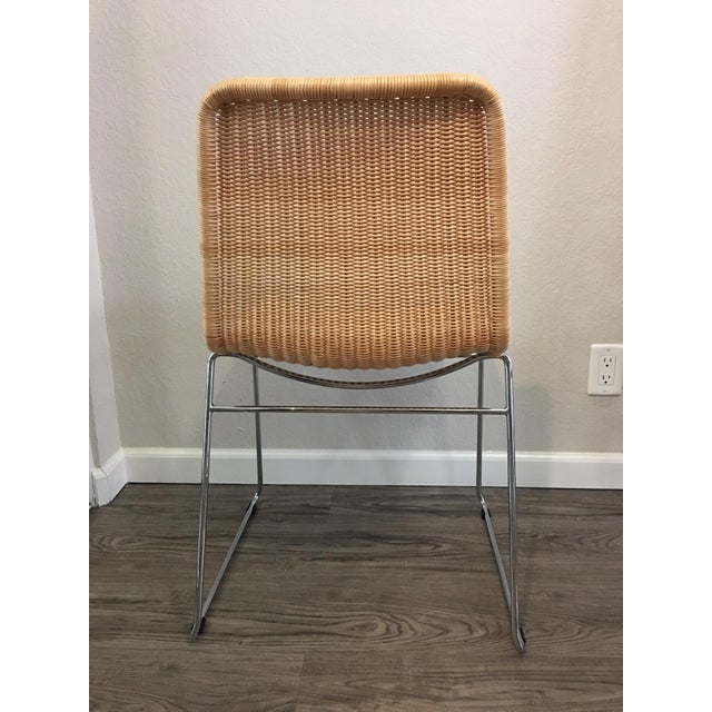 Image of Woven Wicker Stacking Chair
