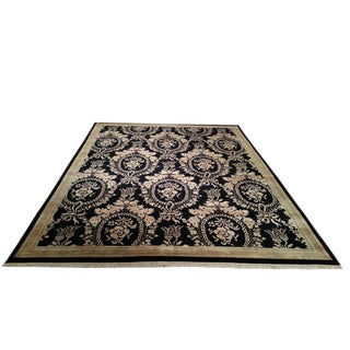 Traditional Handmade Knotted Rug - 9′ × 12′