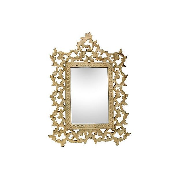 Image of Oversize Victorian Iron Table Mirror