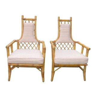 Vintage Mid-Century Bamboo Chairs - A Pair