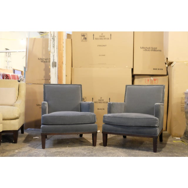 Contemporary Custom Club Chairs - A Pair - Image 2 of 7