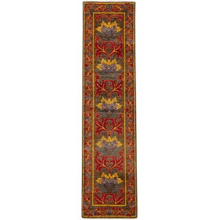 """Arts & Crafts Hand Knotted Runner - 2'6"""" X 10'1"""""""