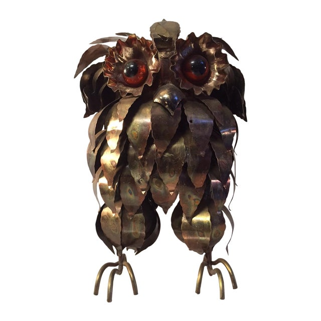 Mid-Century Brass Owl by Curtis Jere - Image 1 of 3