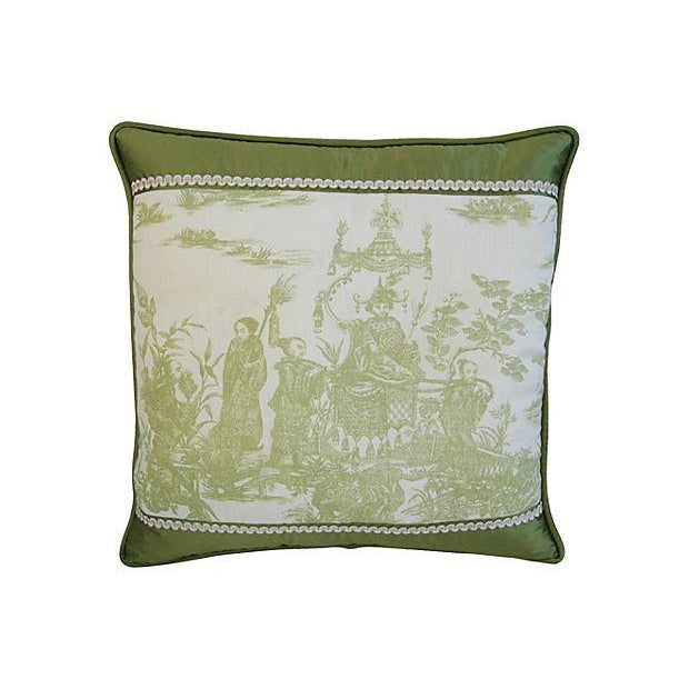 Designer Chris Stone Chinoiserie Pillows - Pair - Image 2 of 8