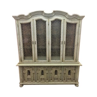 Vintage Stanley Solid Wood China Cabinet