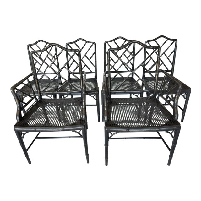 Vintage Wood Chippendale Chairs - Set of 6 - Image 1 of 7