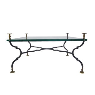 Heavy French Decorative Coffee Table Attributed to Gilbert Poillerat