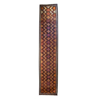 Early 20th Century Varamin Kilim Carpet Runner