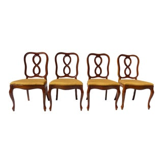 French Style Ribbon Back Dining Chairs - Set of 4