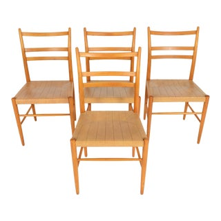 Swedish Yngve Ekström Dining Chairs - Set of 4