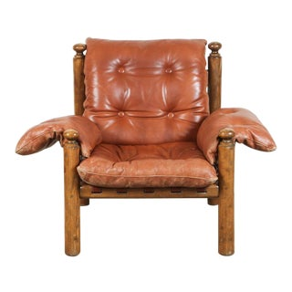 Longhi-Parma Italian Leather Lounge Chair