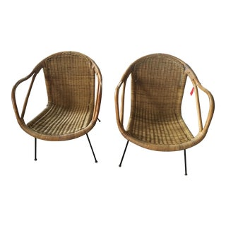 Calif-Asia Rattan and Bamboo Chairs - A Pair
