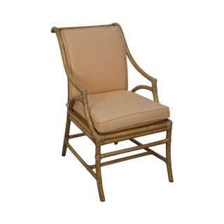 McGuire Cane Back Rattan Arm Chair