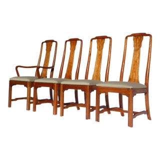 Ethan Allen Canova Campaign-Style Dining Chairs - Set of 4