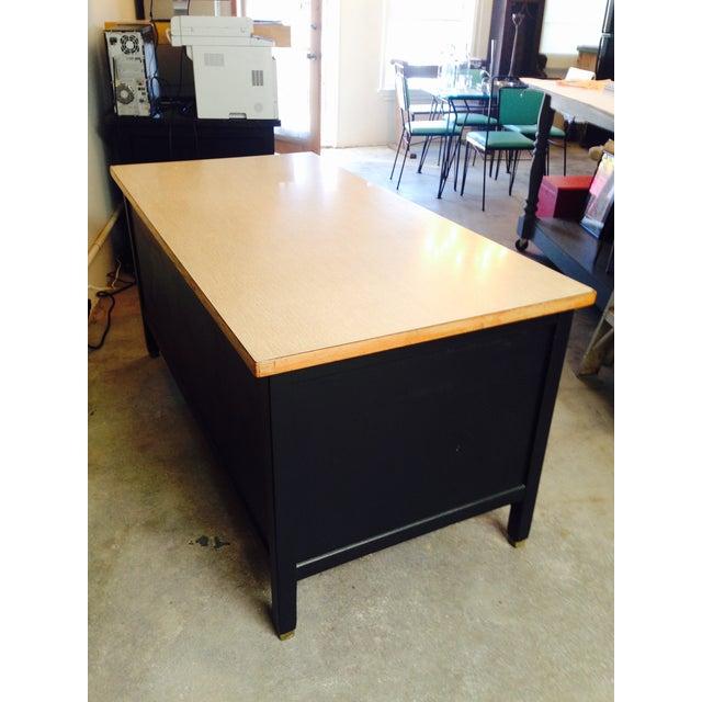 Vintage Professor's Desk, Refinished in Black - Image 10 of 10