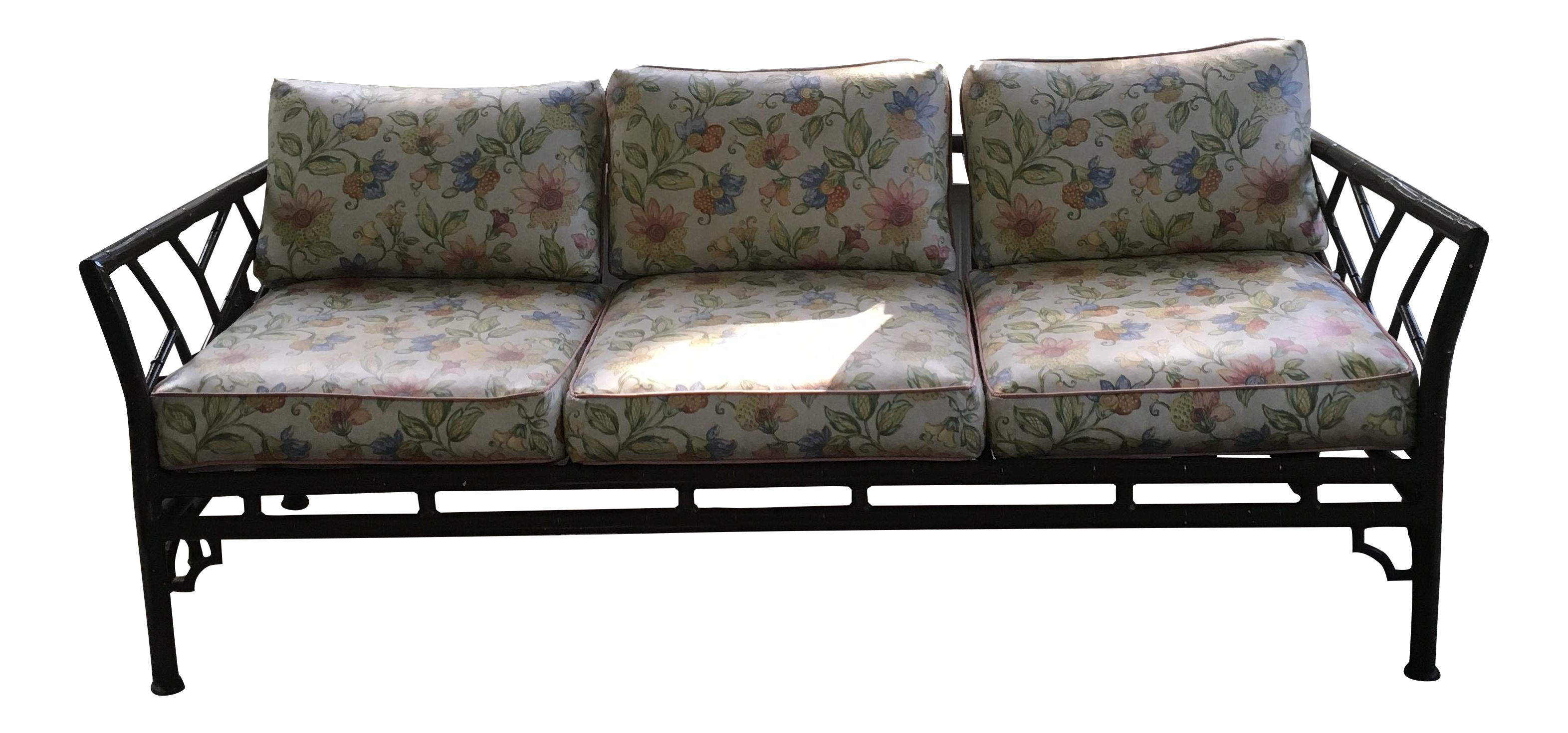 Faux Bamboo Chippendale Patio Sofa