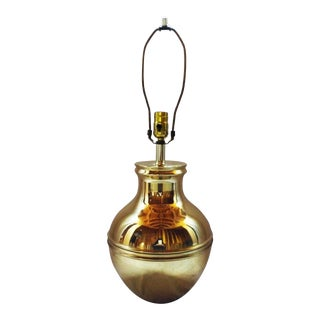 Vintage Brass Globe Lamp