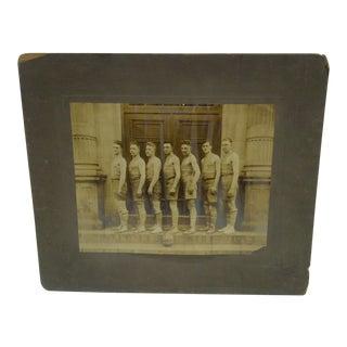 Vintage Men's High School Basketball Team Photograph