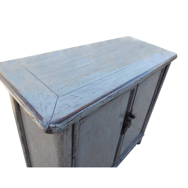 Chinese Rustic Gray Side Cabinet - Image 4 of 6