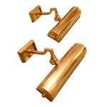 Image of Alexa Hampton Dean Brass Picture Lights - A Pair