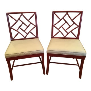 Hickory Chair Fretwork James River Side Chairs - A Pair