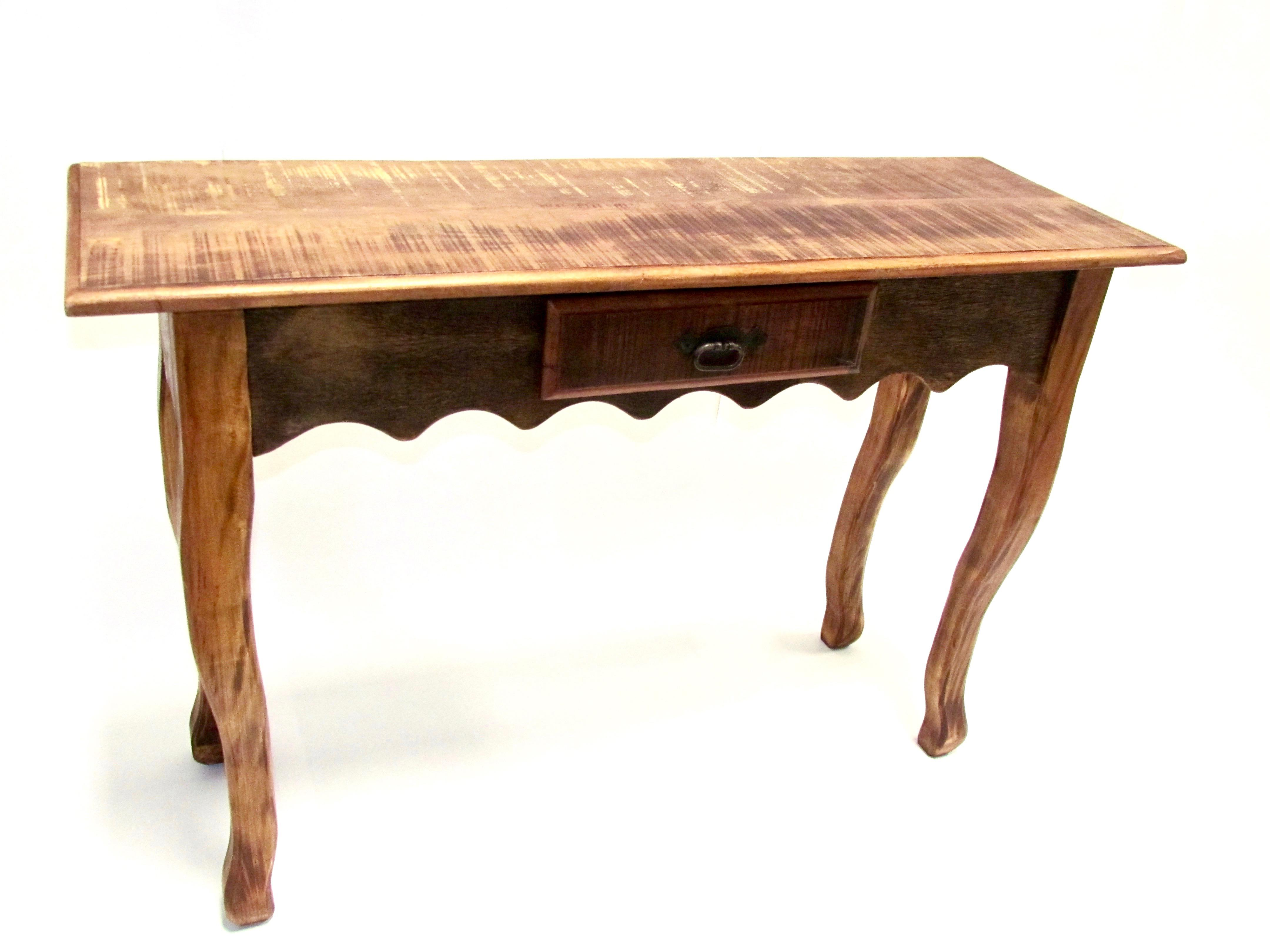Antique Elegant Console Table Eco Friendly Peroba Wood   Image 4 Of 5