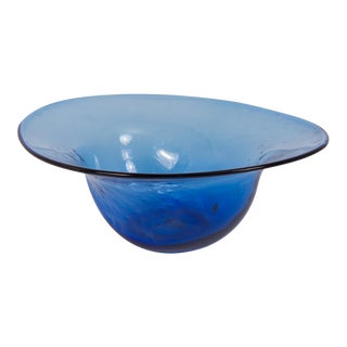 Dimpled Blenko Glass Bowl