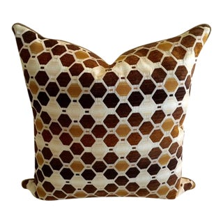 Modern Geometric Earthtone Pillow