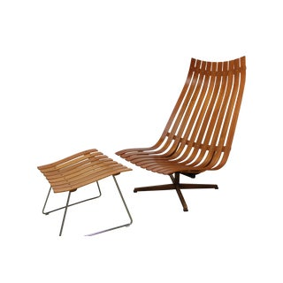 Hans Brattrud Scandia Lounge Chair & Ottoman