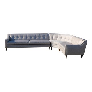 Mid Century Modern Gray Sectional