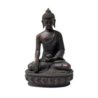 Handmade Bronze Lotus Base Meditation Gautama Shakyamuni Buddha Statue