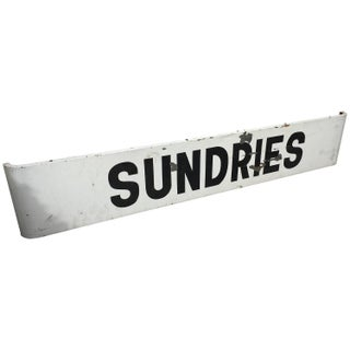 Sundries Antique Steel Sign