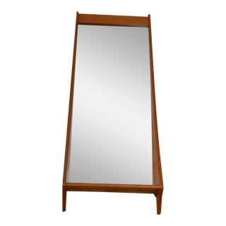 Pedersen & Hansen Danish Teak Mirror with Shelf