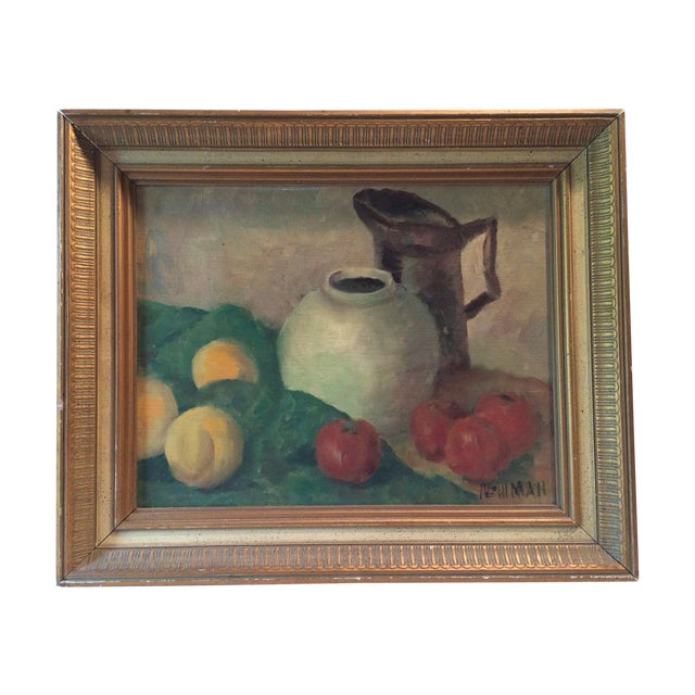 Fruit and Vessel Still Life Painting - Image 1 of 1