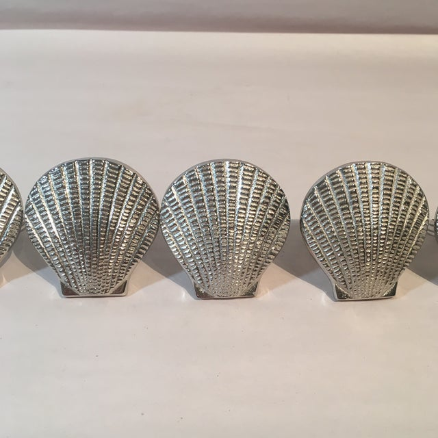 Silver Metal Shell Napkin Rings - Set of 8 - Image 3 of 6