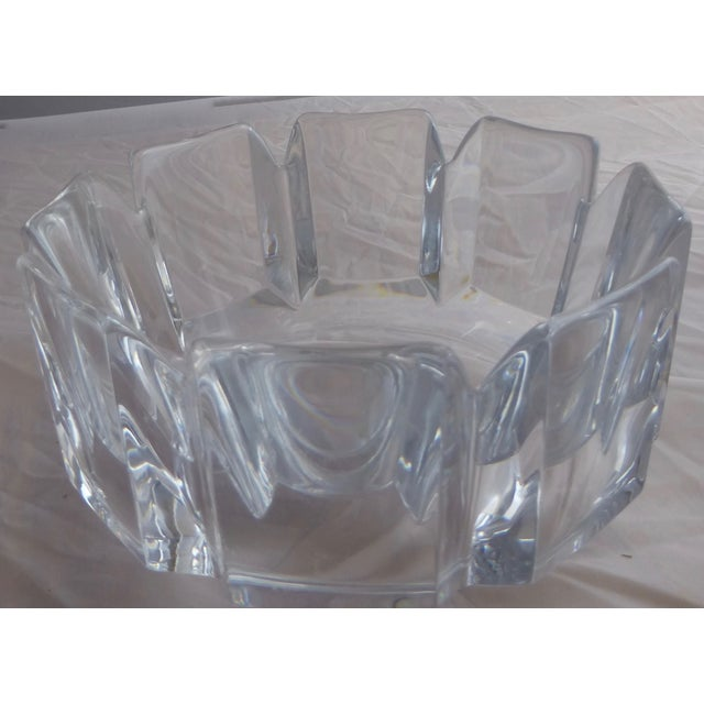 Image of Orrefors Lars Hellsten Swedish Crystal Candy Bowl