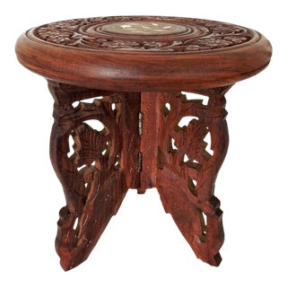 Inlaid Indian Display Stand or Plant Stand