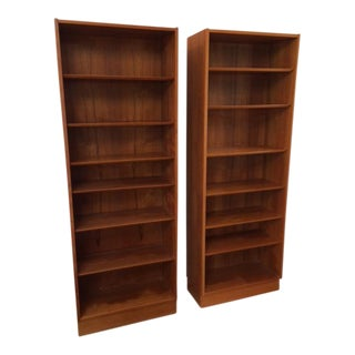 Teak Danish Modern Bookcases - A Pair