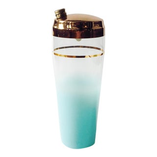 Vintage Aqua Blendo Glass Cocktail Shaker