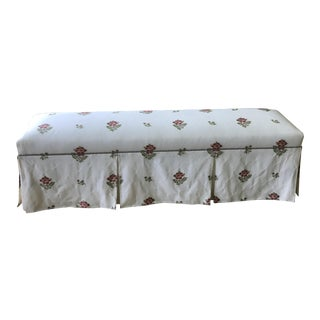 Pencil Pleated Upholstered Bench