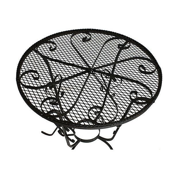 1950s Wrought Iron Bistro Set - Set of 3 - Image 4 of 10