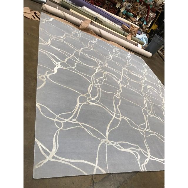 Modern Silk Rug: Stark Contemporary Modern Wool & Silk Rug