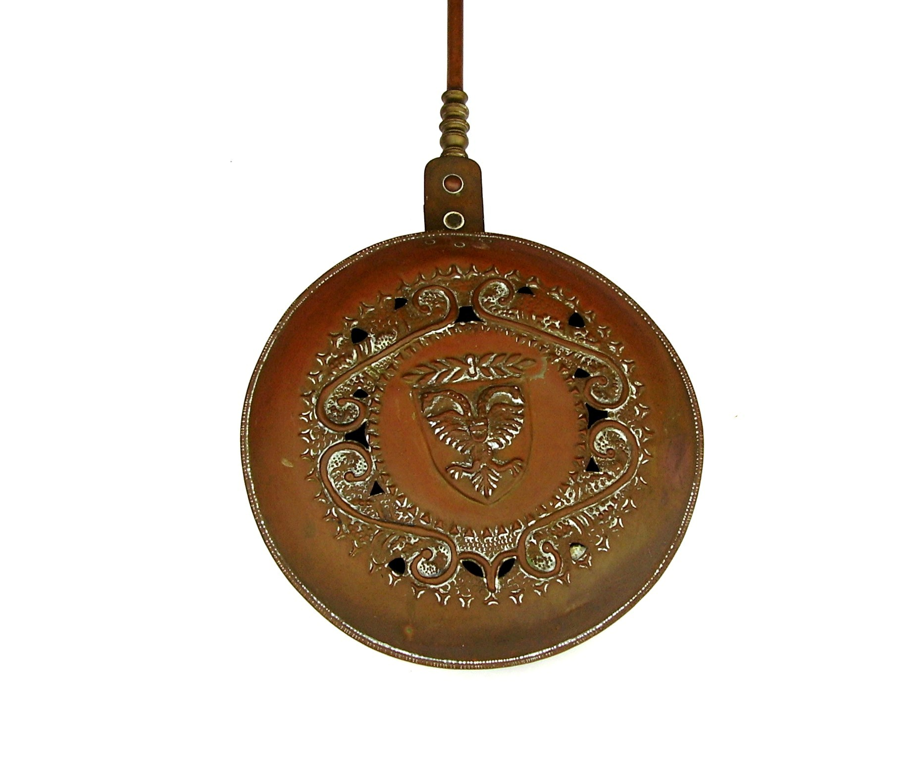 17th Century Copper Amp Brass Bed Warmer Chairish