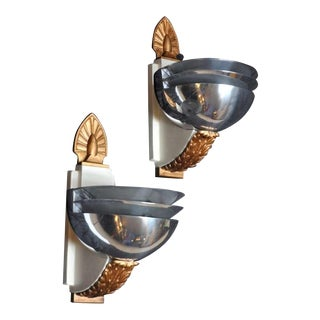 Art Deco Wall Sconces - Three Pairs Available
