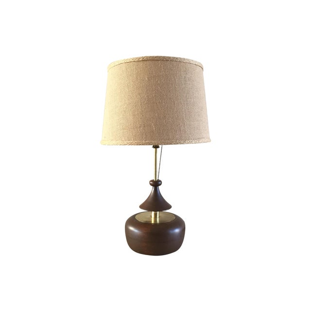 Image of Vintage Laurel Walnut Teardrop Table Lamp