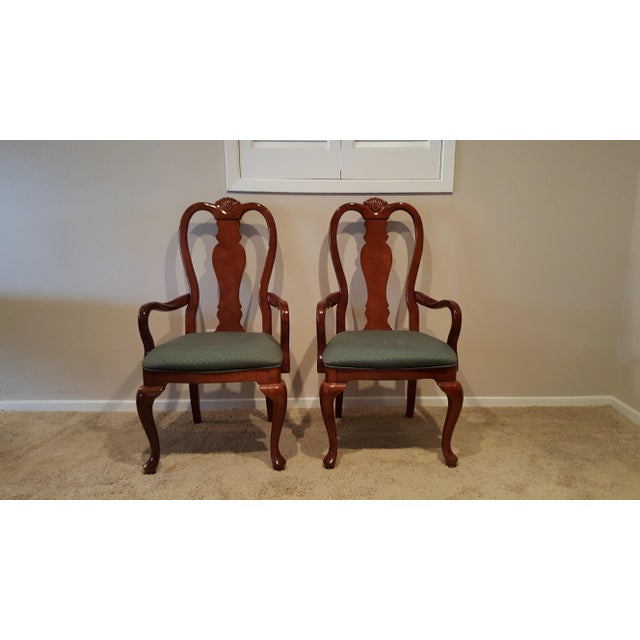 Queen Anne Dining Chairs - Set of 6 - Image 3 of 5