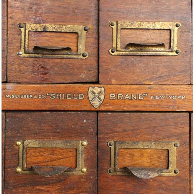 Image of Victorian Oak Multi-Drawer Cabinet